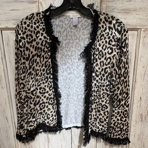 Cute Chico's size 1 cardigan in animal print